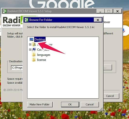 Radiant DICOM viewer select drive