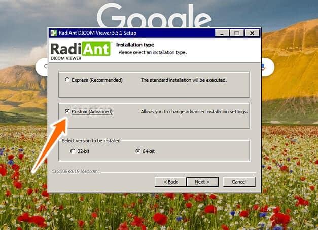 Radiant DICOM viewer custom install